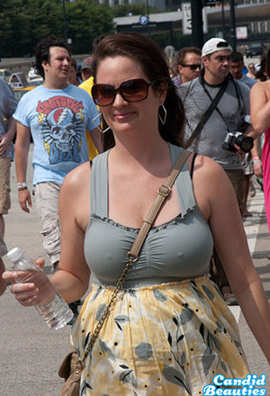 Busty MILF With Hard Nipples